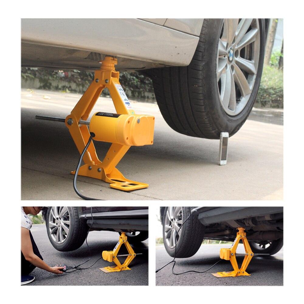 Портативный Автомобильный Домкрат QZ003, 12 В, 3 тонны, автомобильный домкрат, ножничный домкрат, подъемная машина, 120-370/170-420 мм