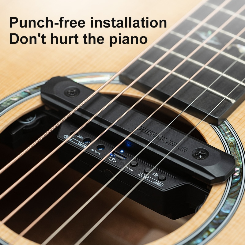 Wireless Guitar Pickup Transmission Distance 50 Meters Charging Pickup About 8 Hours Continuous Use Double X2 Guitar Pickup enlarge