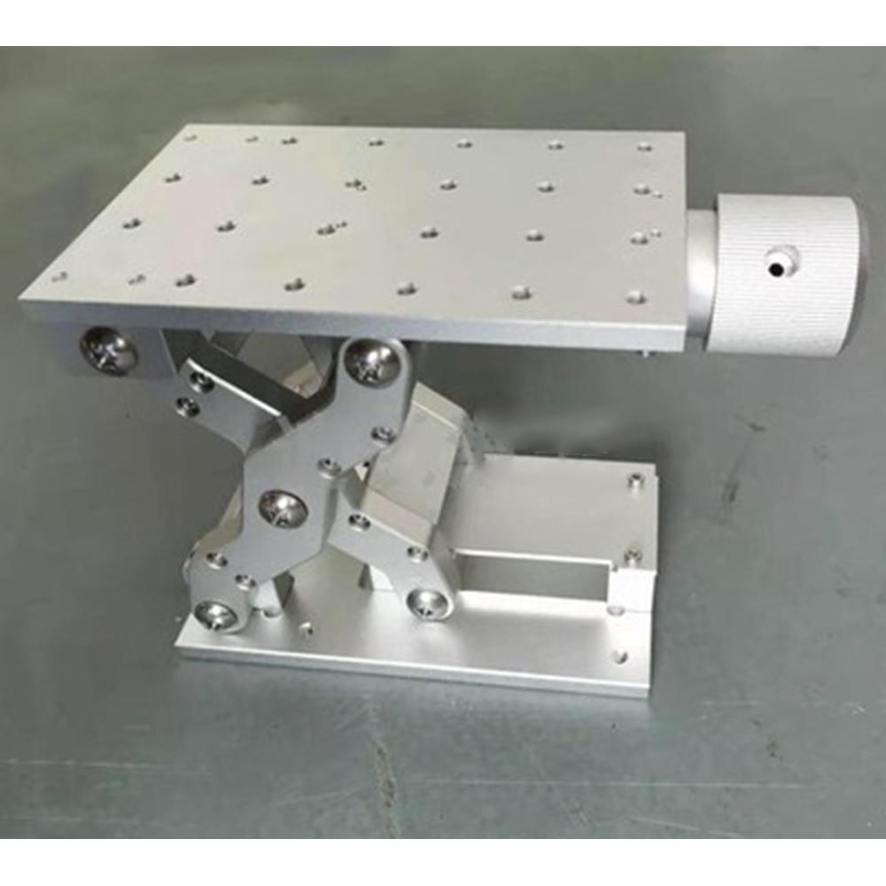 آلة النقش بالليزر 150 × 100 × 75 مللي متر ، وضع المحور Z ، طاولة عمل متحركة ، طاولة عمل ، شوط 60 مللي متر