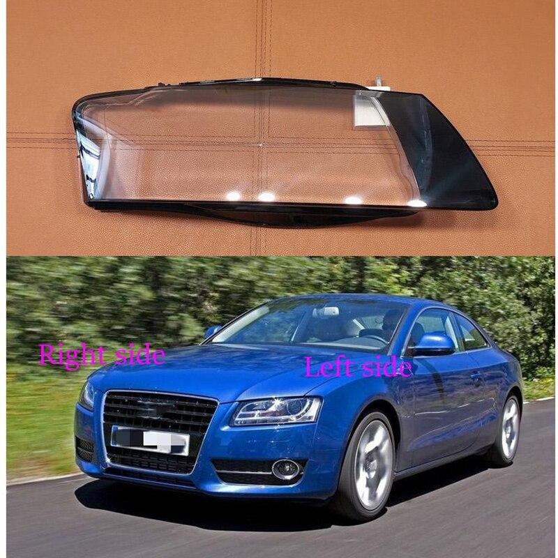 سيارة عدسة المصباح الأمامي لأودي A5 2008 2009 2010 كشافات غطاء سيارة استبدال الجبهة السيارات قذيفة غطاء