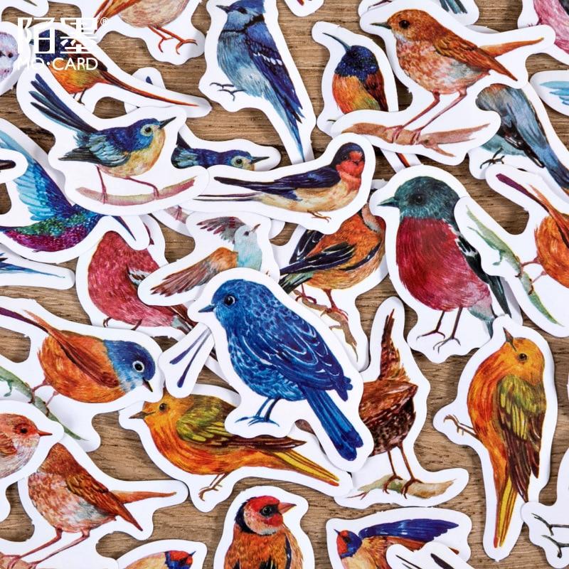 46-uds-acuarela-pajaros-sparrow-precortado-lindo-estetica-diario-de-papel-de-diario-pegatinas-scrapbooking-adhesivo-de-papeleria
