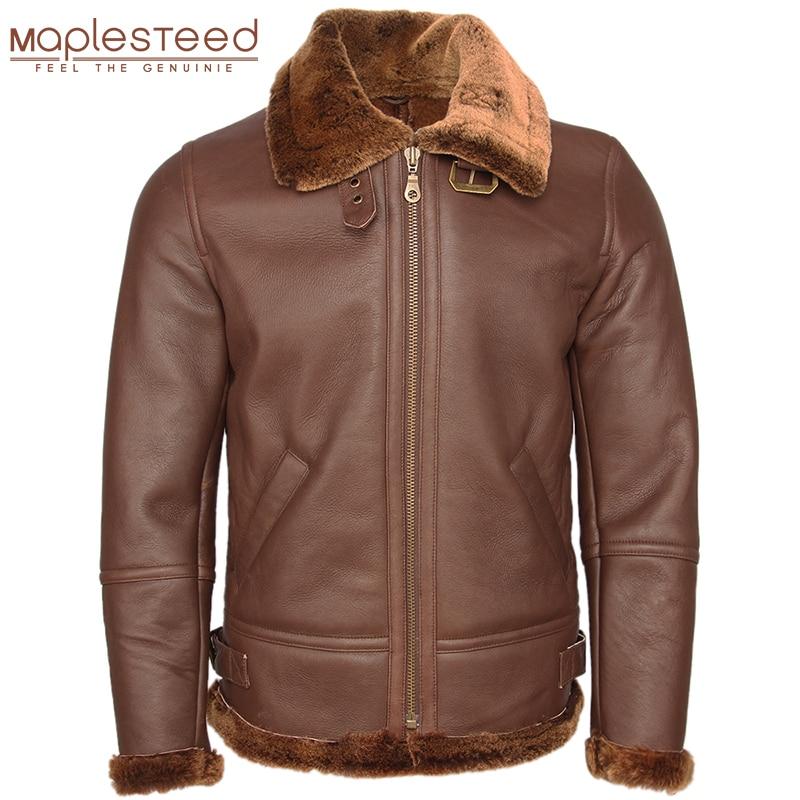 Super qualité classique hommes Shearling manteau épais 100% manteau de fourrure de mouton homme en cuir manteau chaud hiver vêtements mâle pardessus M444