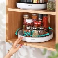 360%c2%b0 rotating storage rack multifunctional seasoning organizer shelf oilproof non slip kitchen supplies holder for home