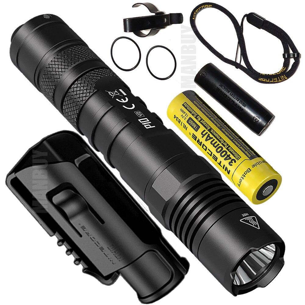 nitecore original p10v2 1100lm led lanterna tatica 3400 mah 18650 bateria ao ar livre