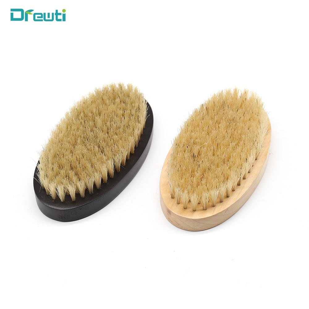 DREWTI 1PC Beard Brush Shaving Brush Soft Bristles Men Beard Comb Facial Massage Barber Salon Modeling Tools
