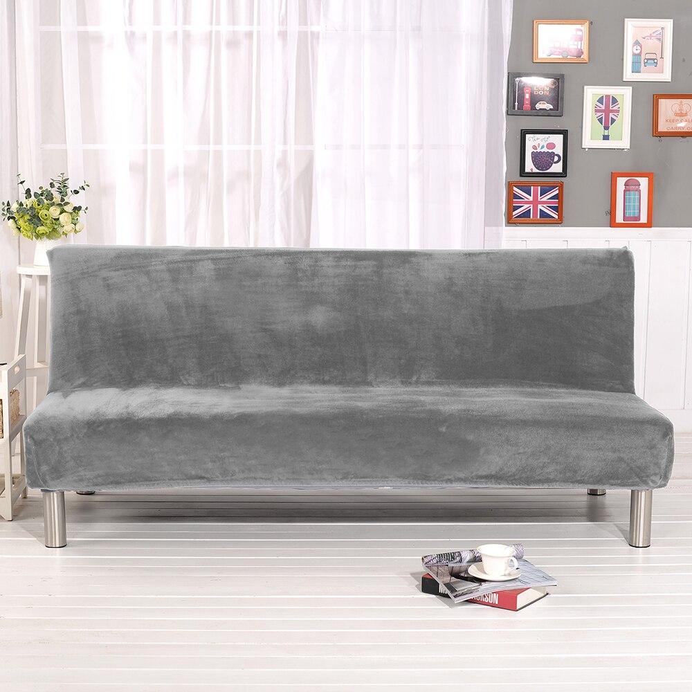 Универсальный размер, плюшевый чехол для дивана, кровати, без подлокотников, Складное Сиденье, чехол, эластичные Чехлы, дешевый защитный чех...