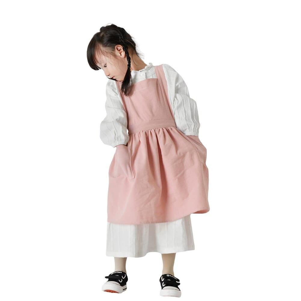 النمط الياباني المئزر الوالدين والطفل الطفل الأطفال الفن اللوحة القطن الخالص و الكتان المطبخ الكورية ملابس العمل بسيطة