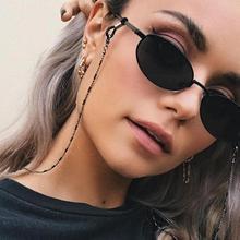 Minimalist Style Balck Bead Chain Eyeglass Chain Lanyard Reading Glasses Chains Women Accessories Su