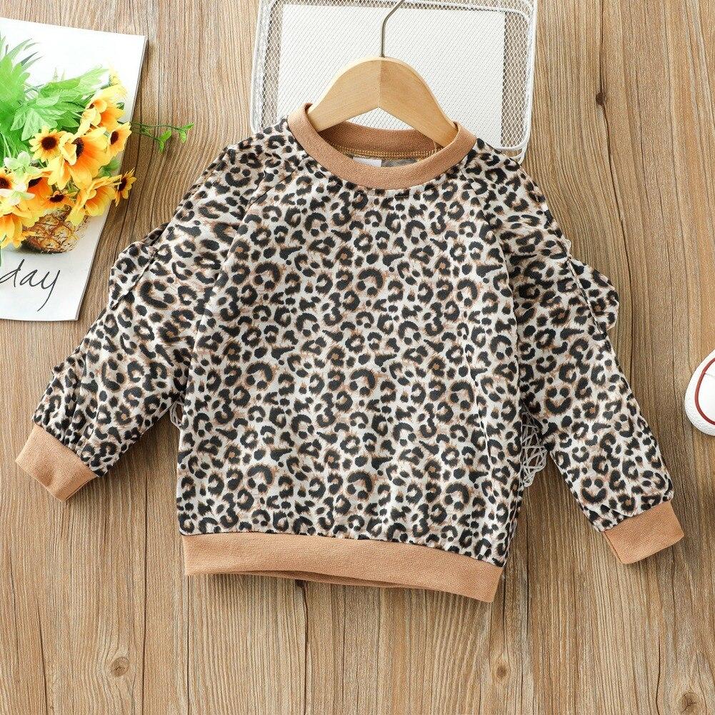 Фото - Детская футболка с длинным рукавом и леопардовым принтом для девочек, детская Весенняя блузка с длинным рукавом, свитшот, Топ футболка с длинным рукавом opium футболка с длинным рукавом