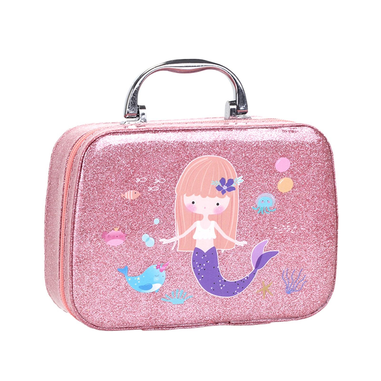 Children Makeup Set Safe Baby Girls Pretend Play Toys Princess Dress Up Cosmetic Bag Make Up Kit Great Gift For Kids