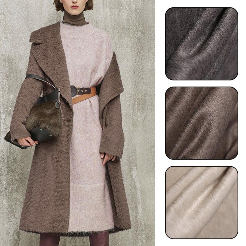 Calidad 140CM ancho 580 G/M peso 65% Vicuna y 25% lana y 10% Cachemira Otoño e Invierno sobretodo tejido E1158