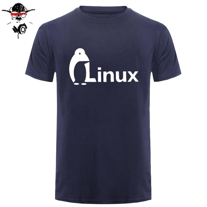 New Summer The Dark Knight LINUXEES penguin Logo T Shirt Men new Fashion short-sleeves Brand wordart of LINUX T-shirt