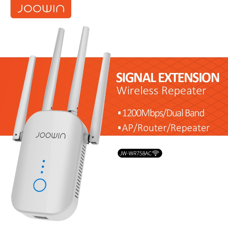 New 1200Mbps Wireless Wifi extender Wifi Repeater/Router Dual Band 2.4&5.8Ghz 4 Wi fi Antenna long Range Signal Amplifier