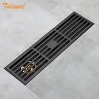 Grille de vidange de salle de bain  Grille de douche  piege de vidange de sol  Grille de dechets  filtre noir