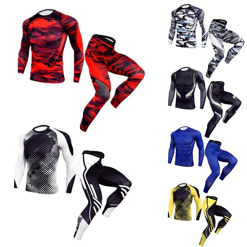 Ropa Deportiva de compresión para hombre, ropa interior térmica para entrenamiento de Fitness, camisa de secado rápido para hombre MMA rashgard