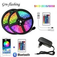 10m 20m bluetooth led strip lights 5050 2835 smd flexible ribbon rgb led light tape diode dc 12v control phone app tv backlight
