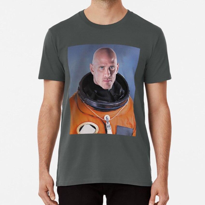 Camiseta de John sins astronauta espacio talento Luna calva icono retrato