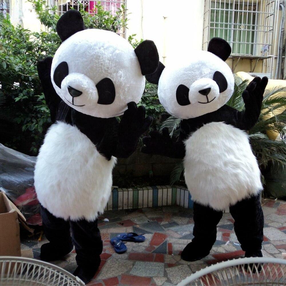 بدلة دب الباندا الصينية زي التميمة هالوين كرنفال حفلة تنكرية تأثيري الدعائم هدايا عيد ميلاد