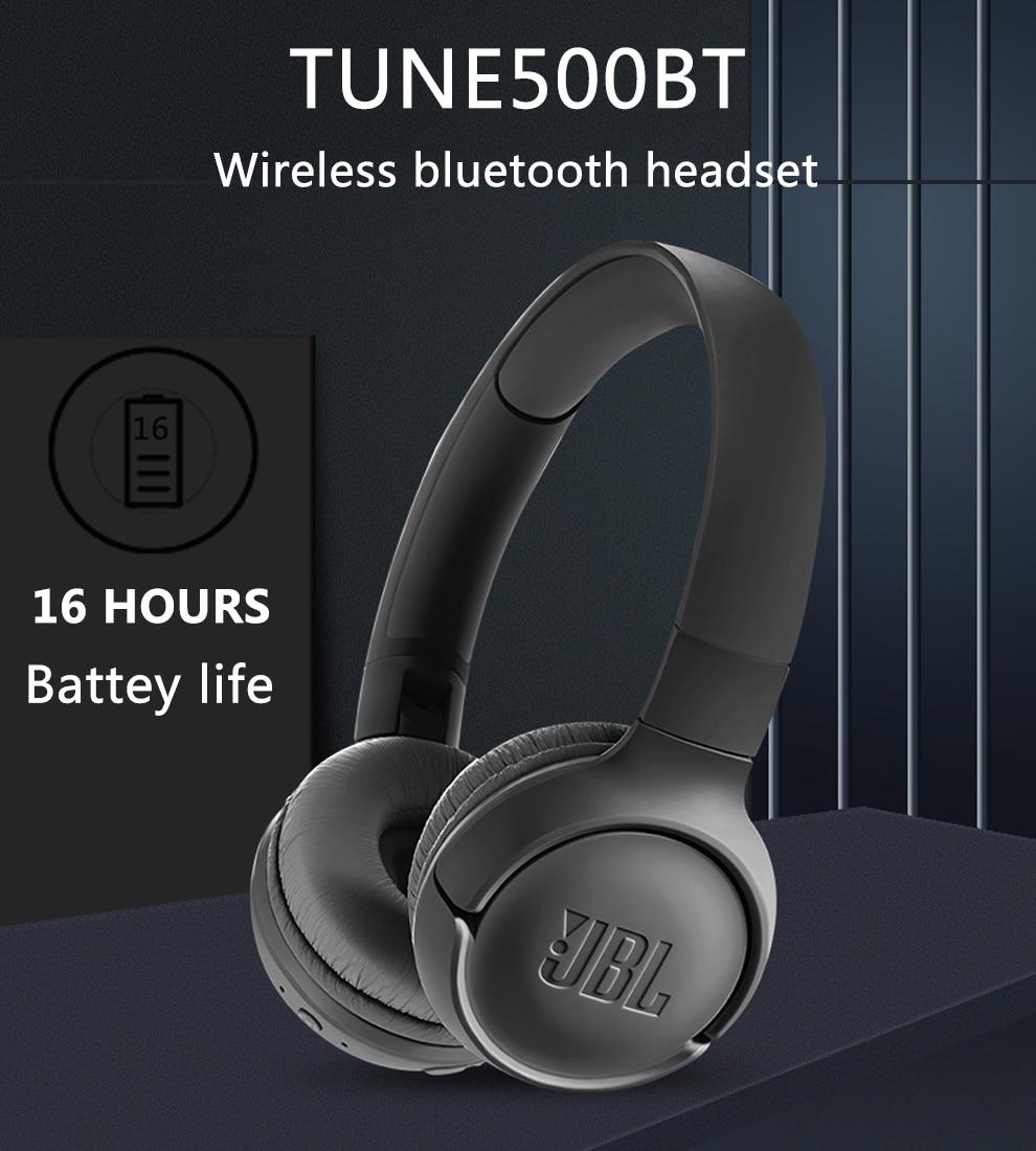 JBL E500BT Headphone Deep Bass Sound Sports Game Bluetooth Headset with Mic Noise Canceling Foldable Earphones enlarge