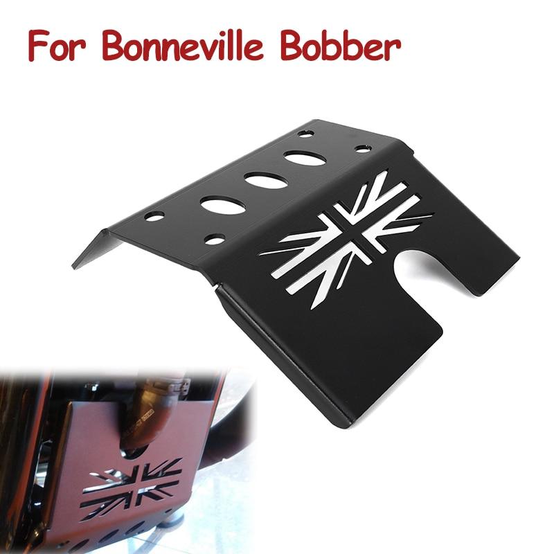 Engin E غطاء للحماية الشاسيه تحت الحرس زلق لوحة سوداء ل Bonneville بوبر محرك دراجة نارية غطاء للحماية