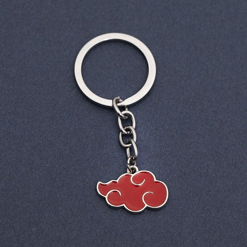 AliExpress - Japanese Anime Akatsuki organization red cloud sign metal pendant Keychain Women Bag Men Jewelry Key Ring Chaverio
