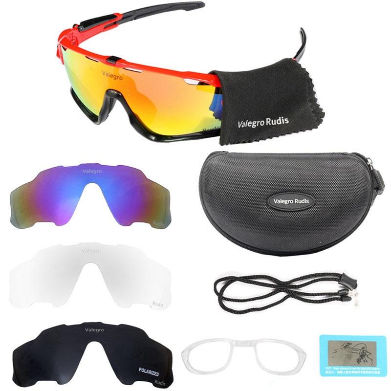 Valegro Rudis Photochromic Bicycle Glasses Bike 4 Lens Polarized Cycling Sunglasses Sport Running Goggles Fishing Eyewear E
