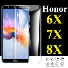 Защитное стекло для huawei honor 8x, протектор экрана 6x, 7x, закаленное стекло 6, 7, 8 x, x6, x7, x8, huawai, защитная пленка для камеры
