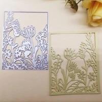 new metal cutting dies scrapbooking flower frame diy album paper card craft embossing stencil dies 6989mm
