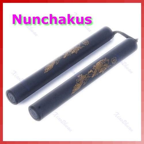 Waffe Nunchakus Gepolsterte Schaum Drachen Padded Ausbildung Nunchuk Kampfkunst Spielzeug 425E