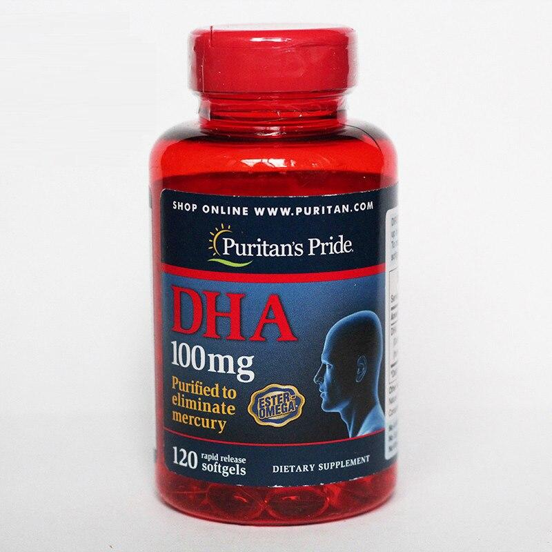 Free Shipping DHA 100 mg purified to eliminate mercury 120 pcs