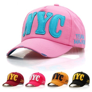 2021 version of NYC letter baseball cap factory wholesale men's spring and summer sports hats ladies casual sunscreen caps