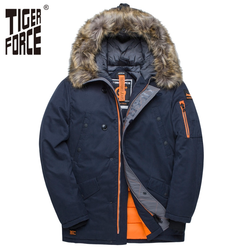 TIGER FORCE куртка мужская зимняя аляска куртка парка мужская кофта зимняя куртка для мужчин mens winter jackets Russia men coats | Мужская одежда | АлиЭкспресс