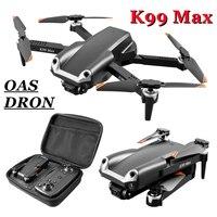 Радиоуправляемый Дрон 2,4 ГГц Wi-Fi 4K HD Двойная камера для аэрофотосъемки Дрон Трехходовой препятствия складной Квадрокоптер игрушки K99 Max