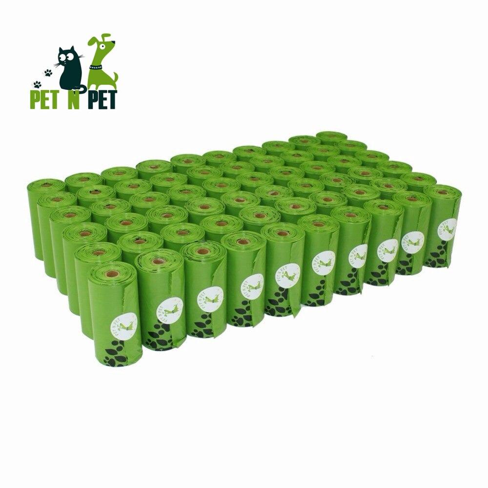Pet N Pet Dog Poop Bags Earth-Friendly 10/12 Micron Large Cat Waste Bags Doggie Bag Green Black Orange Pink Color Garbage Bags