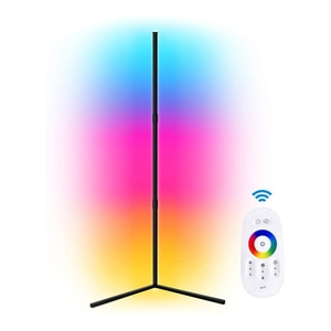 Modern Corner Floor Lamp Led RGB Colourful Standing Intelligent Light Dimmable for Living Bedroom Decoration Night Light