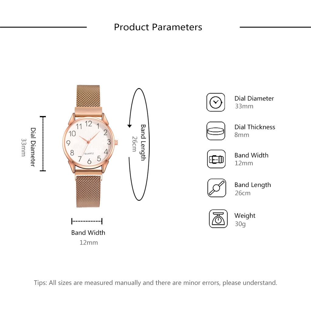 Fashion Quartz watches Small Delicate European Beauty Simple Casual Bracelet Watch Suit Stainless Steel Dial   A50