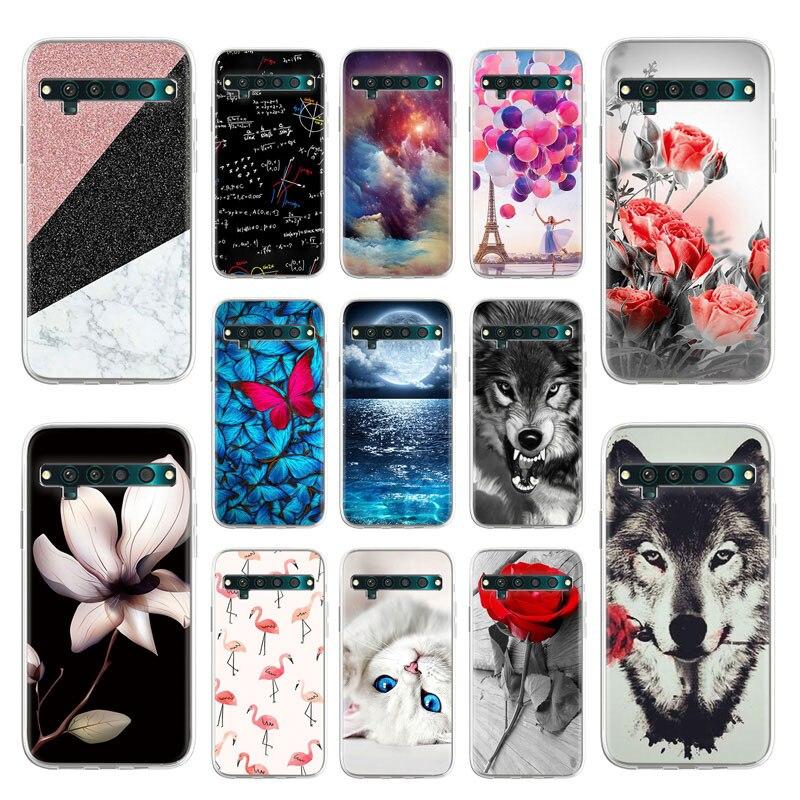 Silicon Telefoon Case Voor Tcl 10 Pro Cases Soft Tpu Animal Bloemen Geschilderd Beschermende Fundas Voor Tcl 10L Covers Back bumper Shell
