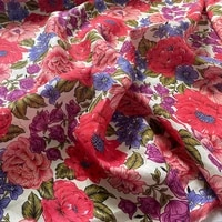 red flowers pure linen fabric for jumpsuits tissus au m%c3%a8tre telas por metro %d1%82%d0%ba%d0%b0%d0%bd%d1%8c %d0%b4%d0%bb%d1%8f %d1%88%d0%b8%d1%82%d1%8c%d1%8f tissu tela vestidos sewing tecido