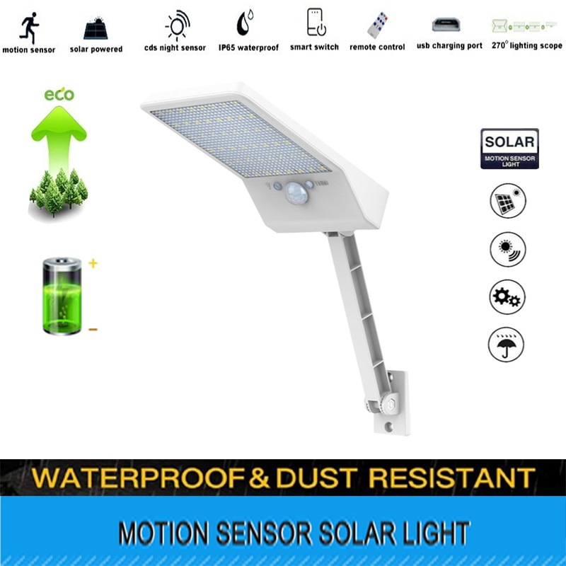 48 Led Solar Light Outdoor Waterproof Lightg for Garden street 3 Modes Rotable Pole Lamp remote con