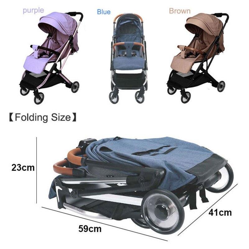 Mini cochecito de bebé ligero multifuncional plegable silla de paseo plegable Cochecitos de bebé fácil de llevar cochecitos 0-3 y