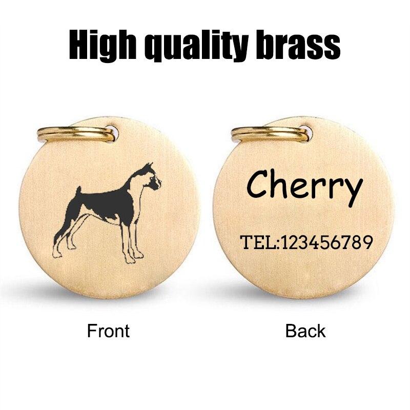 De latón de calidad de perro personalizado etiqueta Anti-perdido diseño grabado con...