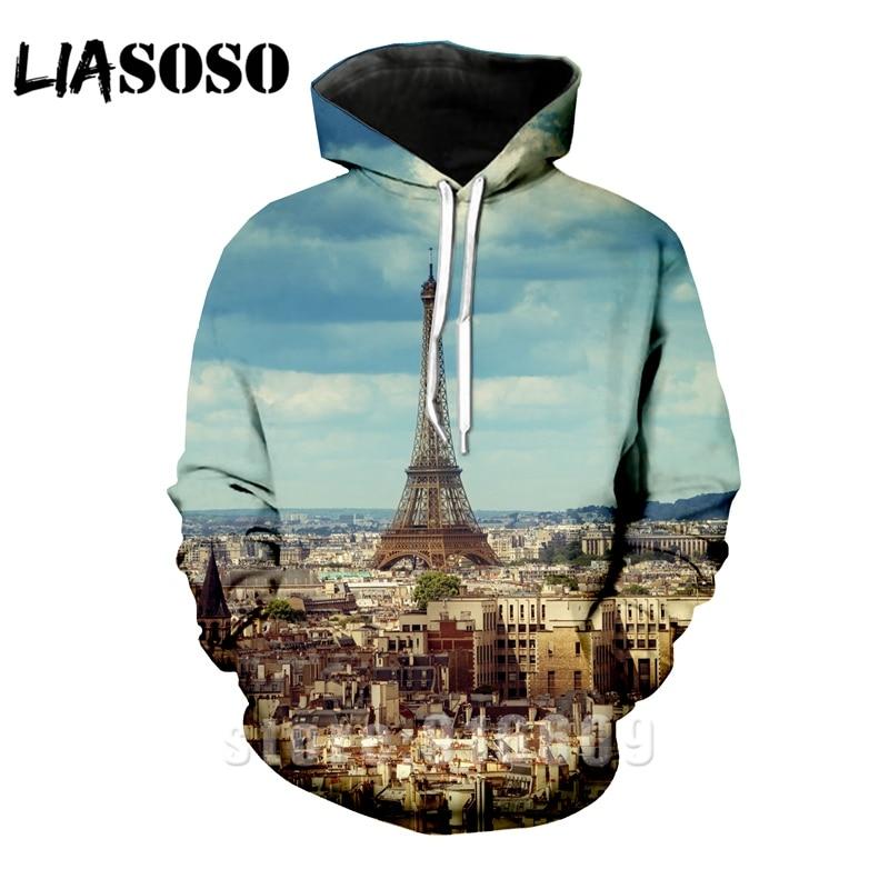 Hoodies anime Hoodie 3d print kids Harajuku rock men Women fashion Sweatshirts comic Paris Eiffel tower streetwear Sweatshirt