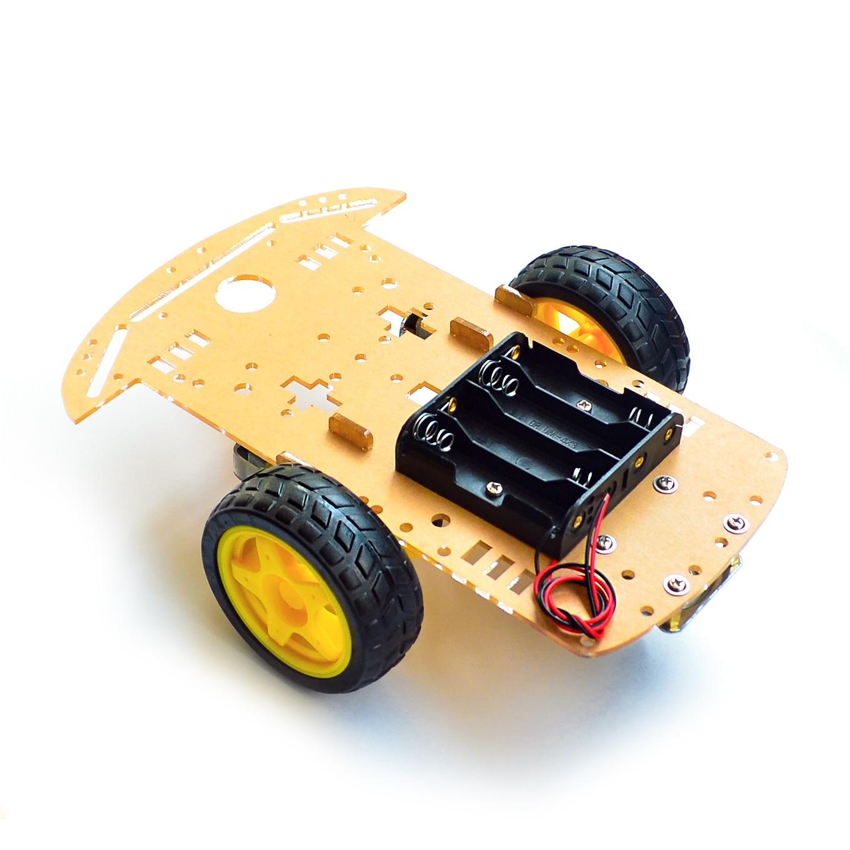 Motor Smart Robot Car Chassis Kit Speed Encoder Batterij Box 2WD