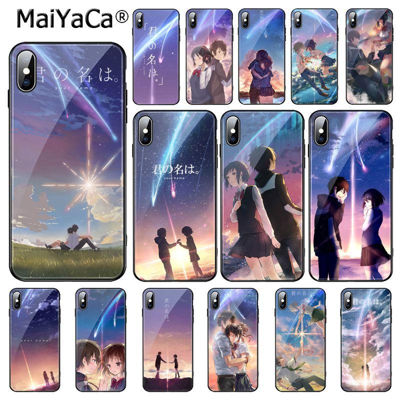 MaiYaCa Anime japonés tu nombre Kimi no Na wa funda de teléfono de vidrio templado para iphone 11 Pro 11 Pro XR XS MAX 8X7 6S 6 Plus