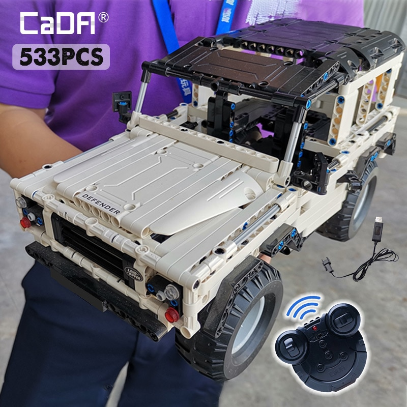 Cada 533Pcs Defender Remote Control Car Building Blocks For high-tech RC Car Model SUV City Brick Toys For Children Boys