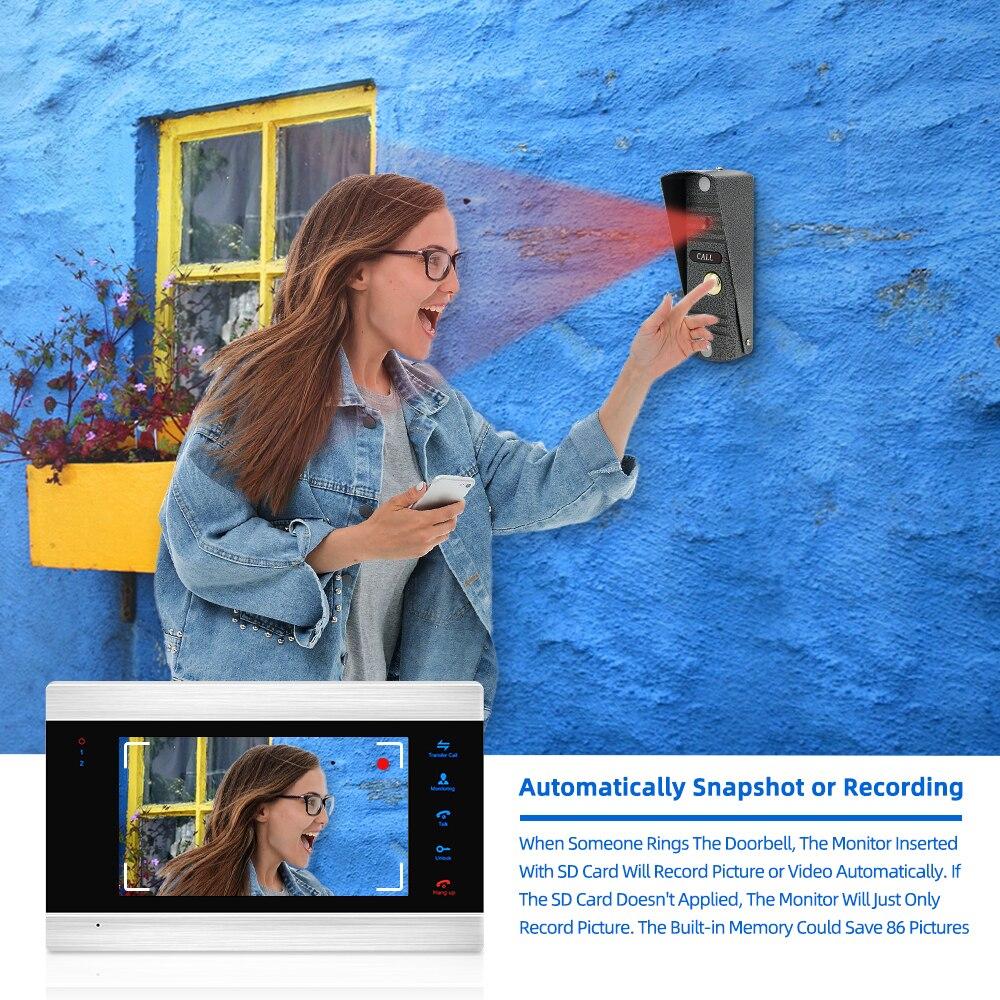 Jeatone Home Video Intercom Video Door Phone for Apartment 7