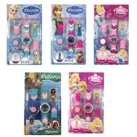 hot 15 styles frozen princess anna elsa children watch building block funny toys for children compatible all brand brick