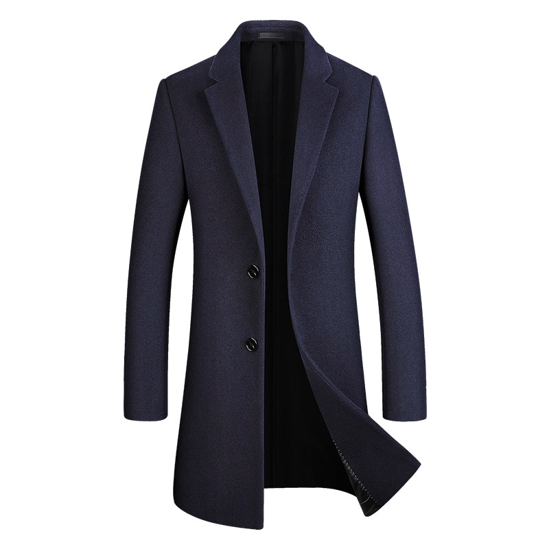 Новое зимнее шерстяное пальто, Корейская версия, тонкое шерстяное пальто, мужское длинное ветровое пальто, Мужское пальто, Мужское пальто, п...