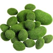 XD-20 chaude pièces 2 tailles artificielles mousse roches décoratives Faux vert mousse couverte pierres
