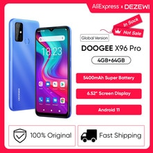 DOOGEE X96 Pro 5400mAh Large Battery Cellphones 4GB RAM 64GB ROM Octa Core 13MP Quad Camera Smartpho